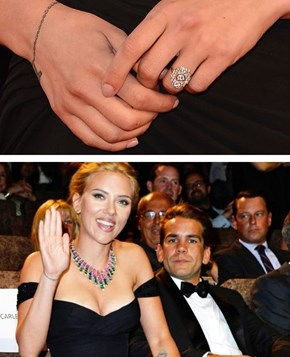 Based On the Ring, Scarlett Is Either Engaged Or Won the Superbowl