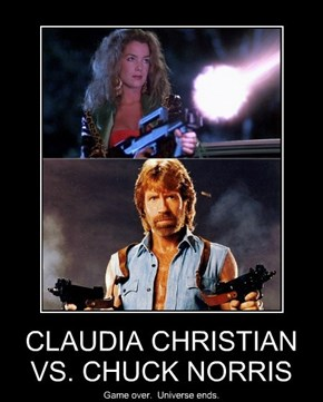 CLAUDIA CHRISTIAN VS. CHUCK NORRIS