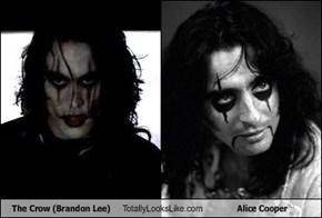The Crow (Brandon Lee) Totally Looks Like Alice Cooper