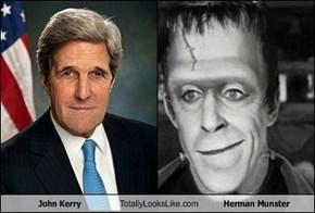 John Kerry Totally Looks Like Herman Munster