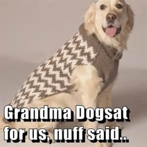 Grandma Dogsat for us, nuff said..
