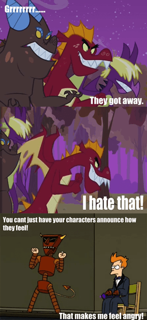 the Robot Devil criticizes MLP's writing