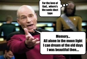 Jean Luc breaks out some Broadway for the crew...