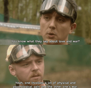 Wise Words From Simon Pegg's Earlier Work