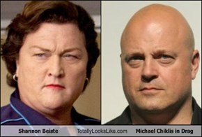 Shannon Beiste Totally Looks Like Michael Chiklis in Drag