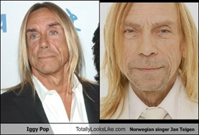 Iggy Pop Totally Looks Like Norwegian singer Jan Teigen