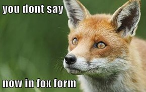 you dont say  now in fox form