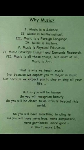 Why Teach Music