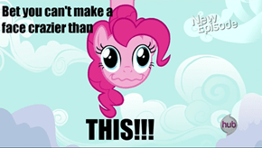 Crazy-face Pinkie Pie