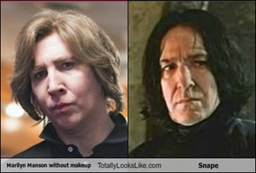 Marilyn Manson without makeup Totally Looks Like Snape