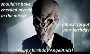 shouldn't have                                                       checked myself                                                                 in the mirror almost forgot                                                                     your birthd