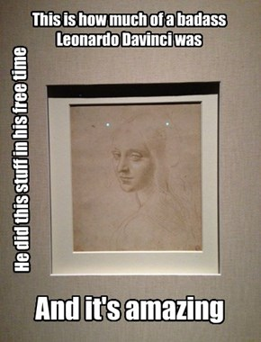 This is how much of a badass Leonardo Davinci was
