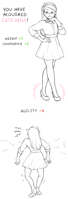 Cute Heels Are Always a +2 to Your Charisma (When Not Moving)