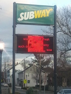 No, Subway! STAHP!