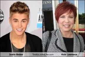 Justin Bieber Totally Looks Like Vicki Lawrence