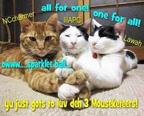 theComfeeSofa 3 Mouseketeers!