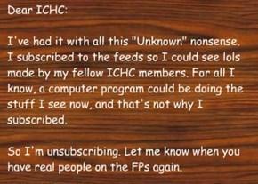 Goodbye, ICHC feeds.