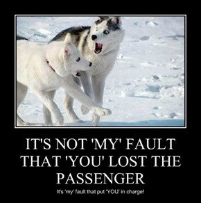 IT'S NOT 'MY' FAULT THAT 'YOU' LOST THE PASSENGER