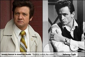 Jeremy Renner in American Hustle Totally Looks Like Johnny Cash
