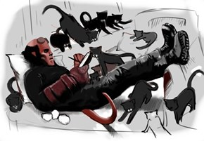 Hellboy & His Kittens