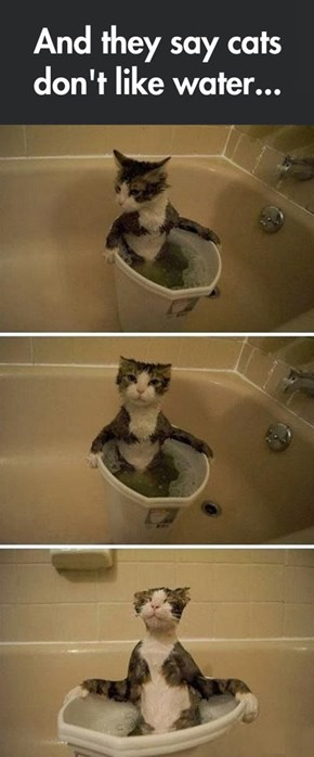 Nobody Ever Wants to Share the Tub With Me...