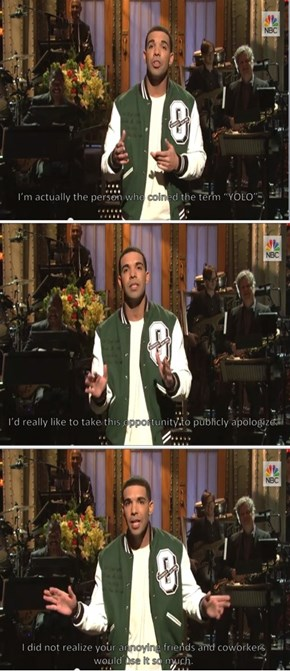 Drake Takes Responsibility For His Actions
