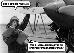 STEP 1:  SPIN THE PROPELLER.