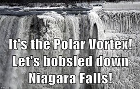 It's the Polar Vortex!  Let's bobsled down Niagara Falls!