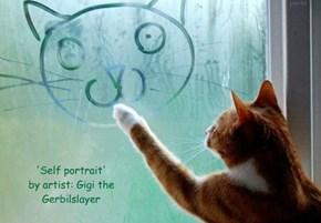 'Self portrait' by artist: Gigi the Gerbilslayer
