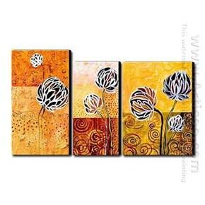 Pintado a mano con pintura de aceite floral