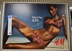 Ad Buster Daniel Soares Pasted the Photoshop Toolbar on Several Posters of H&M in Germany