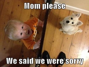 Mom please  We said we were sorry