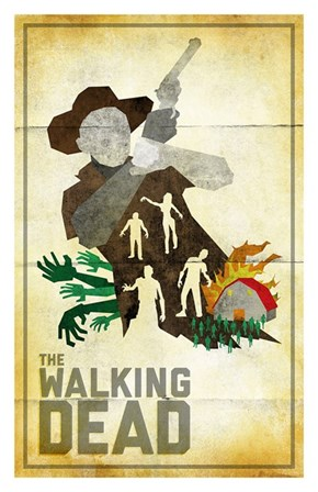 'The Walking Dead: Season 2' Vintage Minimalist Poster