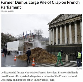 A Steaming Load of Protest Hits France