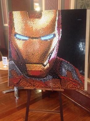 Iron Man Lego Mosaic