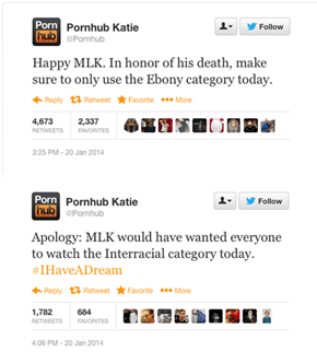 Everyone's Favorite Smut Site Had a Very Special Way of Celebrating MLK Day Yesterday