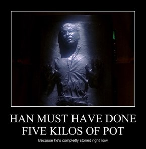 HAN MUST HAVE DONE FIVE KILOS OF POT