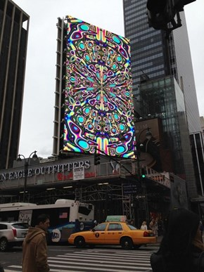 This Broken Billboard Goes Through a Trippy Color Test