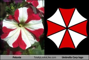 Petunia Totally Looks Like Umbrella Corp logo