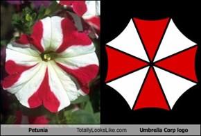Petunia Totally Looks Like Umbrella Corp logo