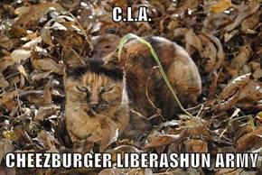 C.L.A.  CHEEZBURGER LIBERASHUN ARMY