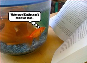Waterproof Kindles can't come too soon...