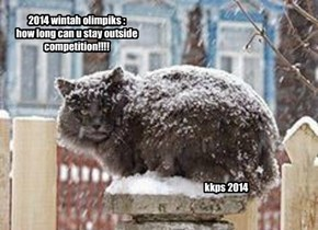 2014 wintah olimpiks : how long can u stay outside competition!!!!