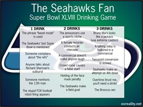 Seahawks Fan Superbowl XLVIII Drinking Game