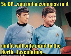 So DR...you put a compass in it  and it will only point to the North...fascinating...