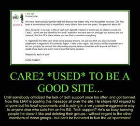 CARE2 *USED* TO BE A GOOD SITE...