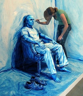 Humans Become Canvases in the Work of Alexa Meade
