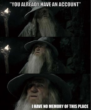 Gandalf Registers a Website Account
