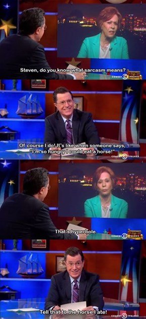 O How Stephen Colbert Doth Bring Joy to My Soul!