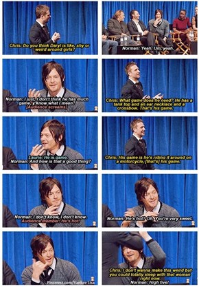 Hardwick and Reedus on Daryl Dixon